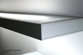 Mensola Illuminata Esterna finitura Argento 90