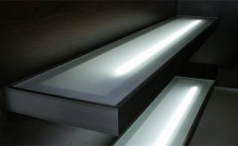 Mensola Illuminata Esterna finitura Inox 120